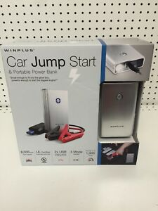 Winplus Car Jump Start Portable Lithium Power Bank Silver With Flashlight New