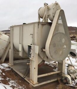 Large 10 Yard Heavy Mixer For Gold Ore Slurry Or Concrete Applications On Skid