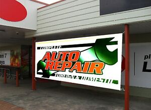 Auto Repair Brake Service Retail Store Business Advertising Banners Signs Flags