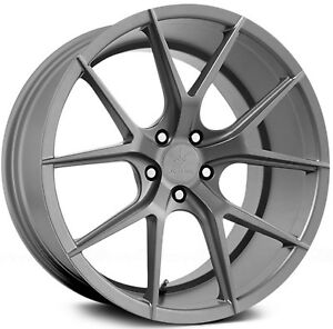 19 Verde V99 Axis Matte Graphite Wheels For Audi B8 A4 S4