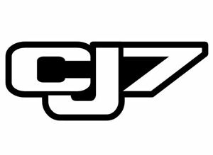 Jeep Cj7 Black Vinyl Decal Sticker Off Road Cj 7 Trails Rock Crawling 4x4