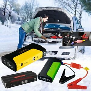Car Jump Starter Portable Power Bank Battery Charger Booster Jumper Cable Lot Ht