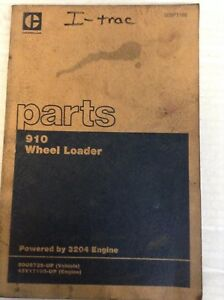 Cat Caterpillar 910 Wheel Loader 3204 Engine Parts Book