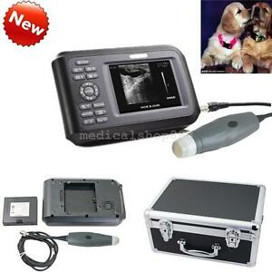 Lcd Portable Ultrasound Scanner Machine Unit Small Animal Veterinary Case Usa
