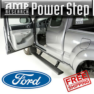Amp Research Powerstep Running Boards Plug play 2013 2016 Ford F 350 W Light Kit