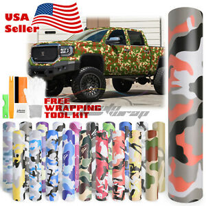 20 Styles Camouflage Camo Army Digital Desert Forest Vinyl Sticker Wrap Decal