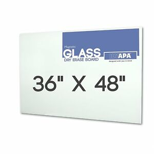 Magnetic Glass Dry Erase Board 36 X 48 Glass Whiteboard