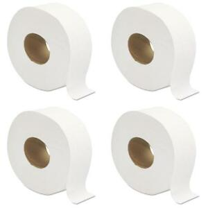 12 Pack Jumbo Large 9 Roll Toilet Tissue Paper 2 ply Commercial Bathroom Office