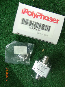 Polyphaser Is 50nx c2 Flange Mount Surge Protector Arrestor Factory Sealed Bs