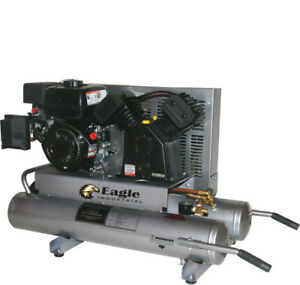 New Eagle Equipment Eac2t Air Compressor W 6 5hp Gas Engine 3600 Rpm