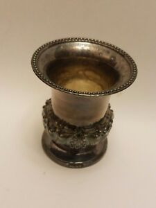 Vintage Ornate Sterling Silver Ashtray Candlestick Candle Holders 2 5 D 2 75 H