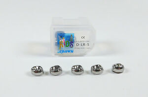 20pc Dental Kid Primary Molar Crown Lrd5 Stainless Steel Preformed Pediatric