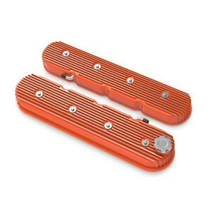 Holley Engine Valve Cover Set 241 141 Factory Orange For Chevy Ls series