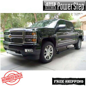 Amp Research Powerstep Running Boards 14 19 Chevy 2500 3500 Ec Cc W Light Kit