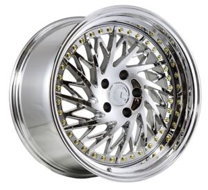 18x9 5 15 18x10 5 15 Aodhan Ds3 5x114 3 Vacuum Chrome Fits Ford Mustang 350z