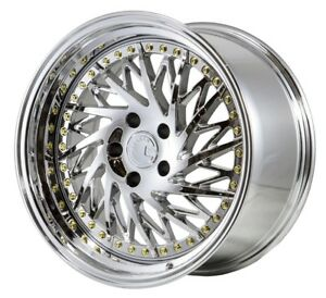 18x9 5 22 18x10 5 15 Aodhan Ds3 5x114 3 Vacuum Chrome Fits Ford Mustang 350z