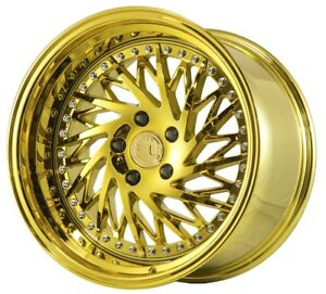 18x9 5 22 18x10 5 22 Aodhan Ds3 5x114 3 Gold Vacuum Fits Ford Mustang 350z
