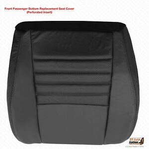 1999 Ford Mustang Cobra Svt Passenger Bottom Perforated Leather Seat Cover Black