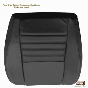 2001 2002 Ford Mustang Gt Convertible Driver Bottom Perforated Leather Cover Blk