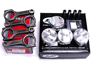 Cp 76mm 9 0 1 Cr Honda Civic D16z6 Pistons And Manley H beam Connecting Rods Kit
