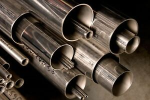 Alloy 304 Stainless Steel Round Tube 1 3 8 X 120 X 90