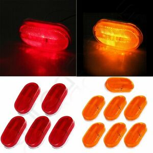 7amber 5red 4 Oval Side Marker Lights Trailer Lamp Camper Truck 12v Dually Bed