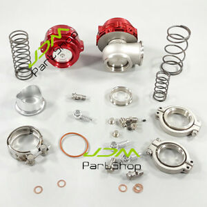 50mm Bov 44mm Water Cold Wastegate Combo Turbo Blow Off Valve And Wastegate Red