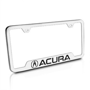 Acura Brushed Stainless Steel License Plate Frame