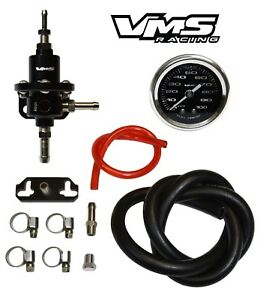 Vms Racing Fuel Pressure Regulator Gauge Kit For 96 00 Honda Civic D16 B16 Bk