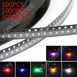 0805 Smd Smt Led Red Green Blue Yellow White Orange Purple 7colours Light Bs1