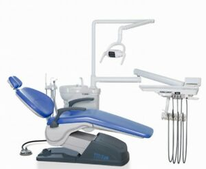 Dental Unit Chair Hard Leather Skyblue 4hole Tuojian A1 Local Pick Up Usa Stock