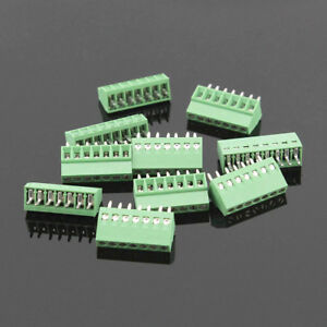 50pcs 7 Poles 7 Pin 2 54mm 0 1 Pcb Universal Screw Terminal Block Connector