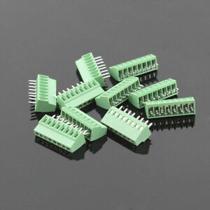50pcs 8 Poles 8 Pin 2 54mm 0 1 Pcb Universal Screw Terminal Block Connector