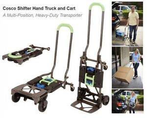 Hand Truck Dolly Wheel Cart Multi Position Folds Flat Home Simple Office Storage