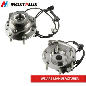 2x Front Wheel Hub Bearing Assembly For 02 09 Gm Trailblazer Envoy W Abs 6 Lug