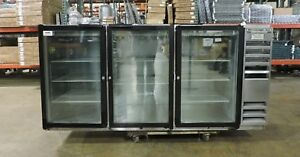 Beverage Air Bb72g Commercial Back Bar Glass Door Refrigerator