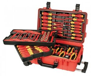 Wiha Insulated Tool Set With Screwdrivers Cutters Pliers And Sockets 32800
