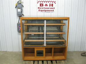 48 Wood 2 Door Glass Bakery Donut Dry Display Show Case 4