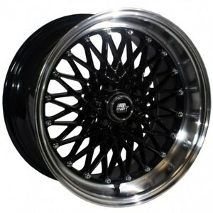 Mst Mt16 15x8 20 4x100 Black W Machined Lip Civic Integra Miata Mr2 Crx Yaris