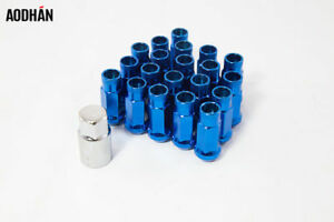 20pcs Aodhan Xt51 Open Extended Blue 12x1 25 Wheel Tuner Steel Lug Nuts
