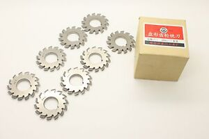 Diameter 55mm Hss 8h Set 8 Pcs Dp16 Pa14 1 2 Bore22 No1 8 Involute Gear Cutters