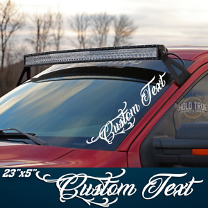 Custom Text Decal Windshield Banner Vinyl Truck Diesel F250 Sticker 20 Colors