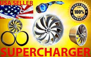 Chevy Performance Air Intake Supercharger Turbo Fan Kit Free 2 3 Usa Shipping