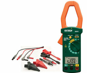 New Extech 380976 k Phase 1000a True Rms Power Clamp Meter Us Authorized Dealer