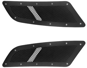 Mustang Gt Speed Black Mesh Hood Vents Scoops 2015 17 Ford Mustang