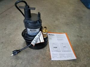 Flotec Submersible Sump utility Pump Fpos1250x 08 1 6 Hp