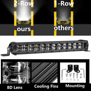 12inch 120w Single Row Super Slim Led Light Bar 6000k Driving For Off Road Jeep