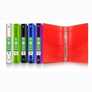 3 ring Binder 1 Inch Case Of 48 Bazic Poly School Binders 3 Ring For File