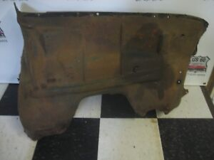 Original 1956 Chevy Full Size Lh Driver S Side Inner Fender Solid