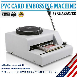 72 Letter Manual Embosser Machine Pvc Gift Card Credit Id Vip Stamping Embosser